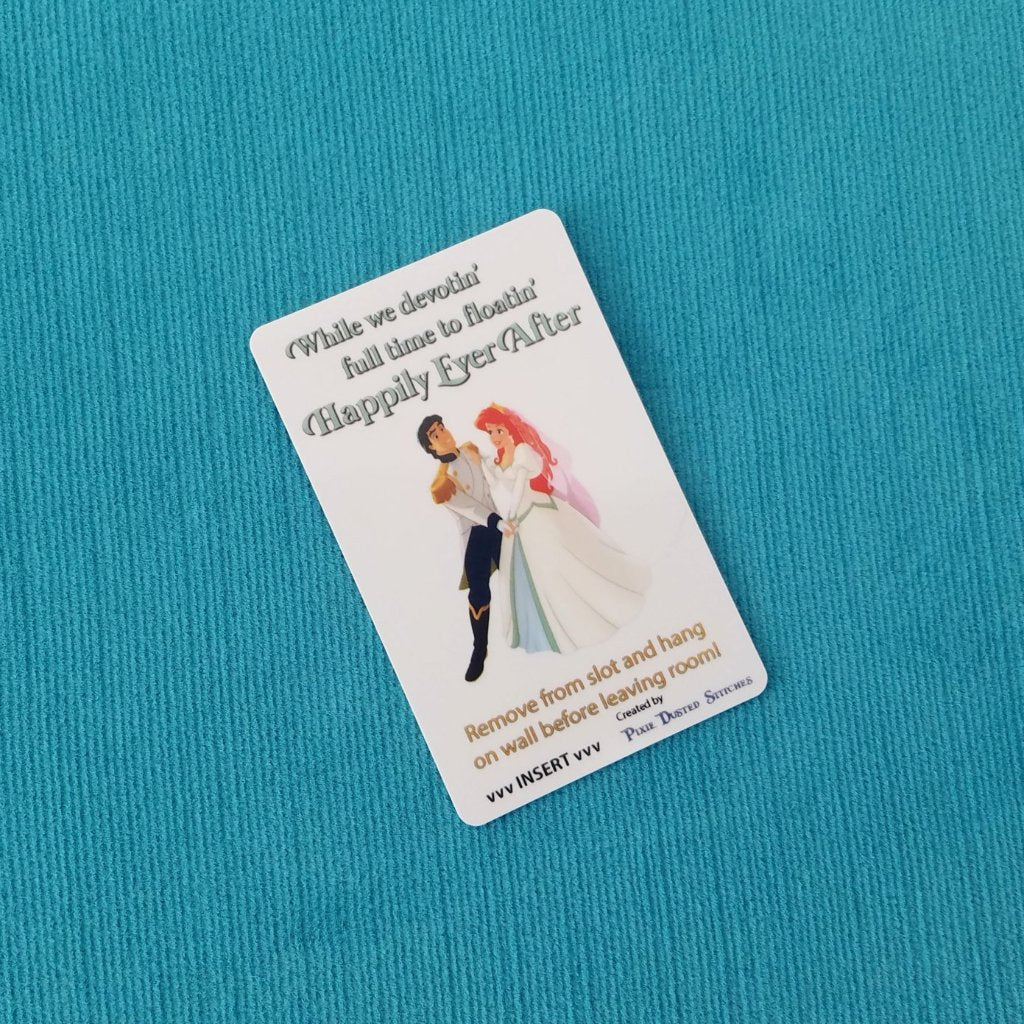 Disney Cruise Light Card® - Wedding - Ariel & Eric - Happily Ever After - custom card key switch activator for Fish Extender FE Gift DCL