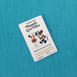Disney Cruise Light Card® - Cruise Wedding - Bride Minnie & Groom Mickey - custom magic card key switch activator Fish Extender FE Gift DCL