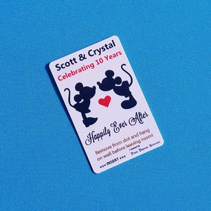 Disney Cruise Light Card® - Cruise Anniversary - Kissing Mickey & Minnie - custom magic card key switch activator Fish Extender FE Gift DCL