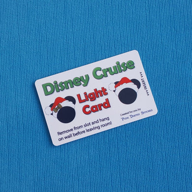 Holiday Mickey and Minnie Disney Cruise Light Card® card key switch activator for Fish Extender FE Gift DCL