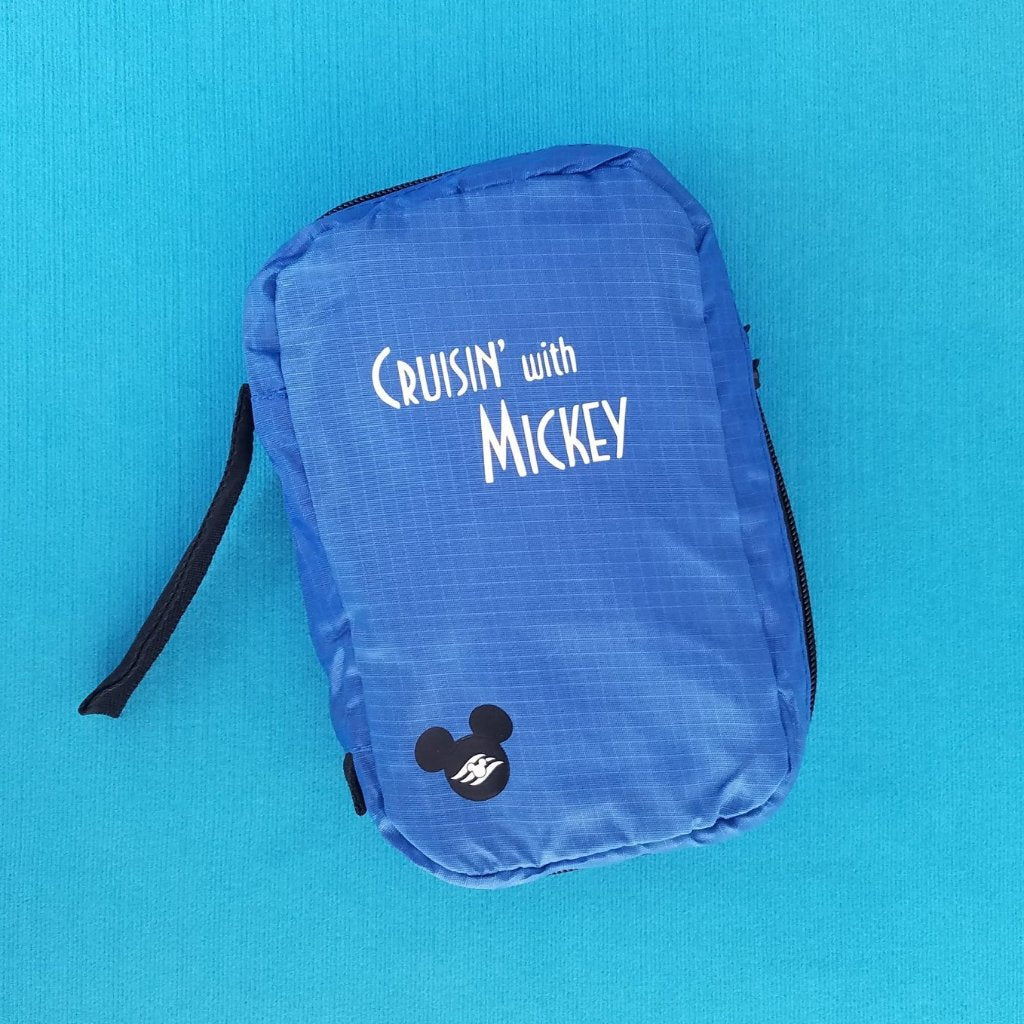 Disney Cruise Line - Cruisin' with Mickey - Hanging Toiletry Bag - Makeup Cosmetic Case - Fish Extender - DCL FE Gift