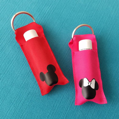 Chapstick holder - Lip balm holder - Red Mickey or Pink Minnie - Great for Disney World Vacations!