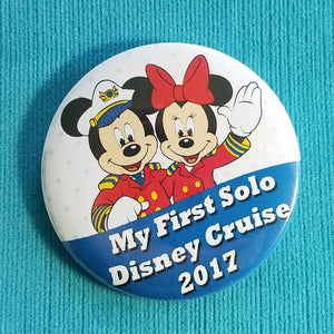 Disney Cruise - My First Solo Disney Cruise - 2018 - 2019 - Fish Extender - FE Gift - Celebration Magnet - Celebration Pin - Pin Back Button