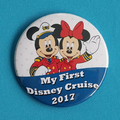 "Disney Cruise - ""My First Disney Cruise"" - 2018 - 2019 - Fish Extender - FE Gift - Celebration Button - Celebration Magnet - Pin Back Button"
