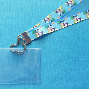 Disney KTTW Card Holder/Lanyard  - Mickey Island - Cool Mickey - Non-scratchy - Child or Adult