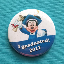 Graduation Button - 2018 - 2019 - Disney Cruise - Disney World - Disneyland - Celebration Button - Celebration Pin - Magnet - Grad Minnie