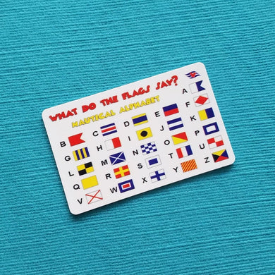 Disney Cruise Fish Extender Gift - FE Gift - Flag Decoder - Nautical Flag Alphabet Card - DCL FE Gift
