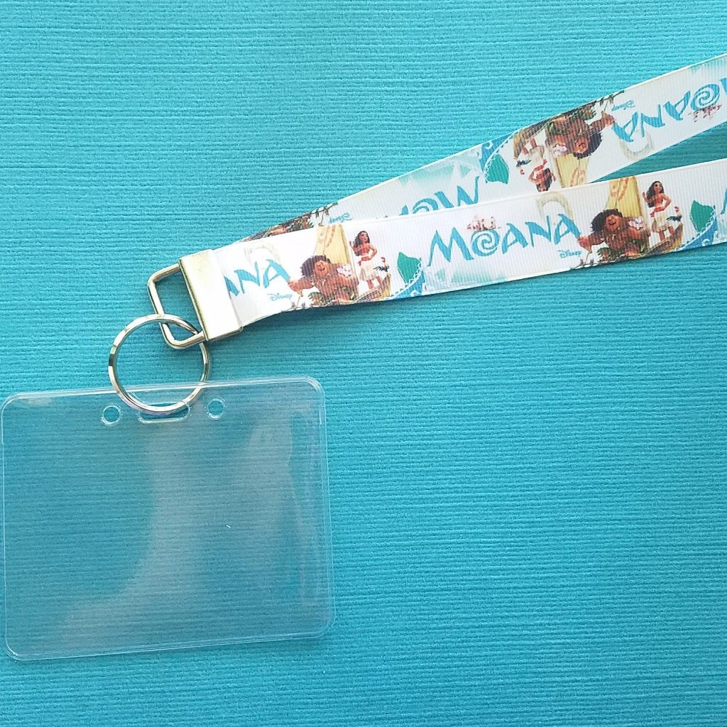Disney Lanyard  - for KTTW Card - Disney Cruise - DCL - Moana - Maui - Non-scratchy - Child or Adult - ID Holder