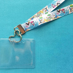Disney KTTW Card Holder/Lanyard  - Castaway Cay - Mickey Minnie Donald Daisy Goofy Pluto - Day at the Beach - Non-scratchy - Child or Adult
