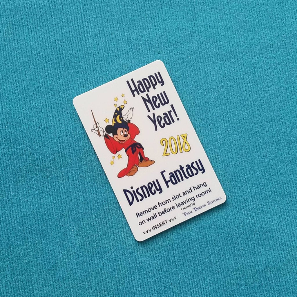 new years sorcerer mickey dcl disney cruise light card card key