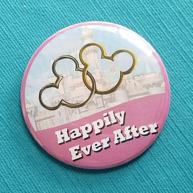 Happily Ever After - Disney Cruise - Disney World - Disneyland - Celebration Button - Celebration Pin - Door Magnet