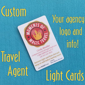 Travel Agent Light Card® - custom Light Card® - card key switch activator - for TA gift - DCL