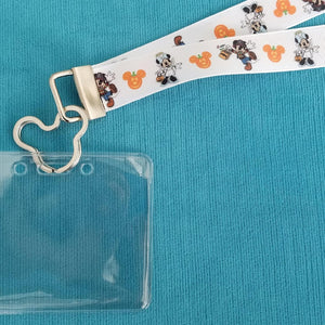 Disney World Lanyard - KTTW Card Holder - Halloween Costumes - Mickey's Not so Scary Halloween Party - Non-scratchy - Child or Adult