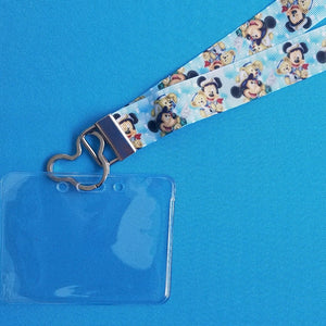 Disney Lanyard  - for KTTW Card - Disney Cruise - DCL - Captain Mickey & Duffy the Disney Bear - Non-scratchy - Child or Adult - ID Holder