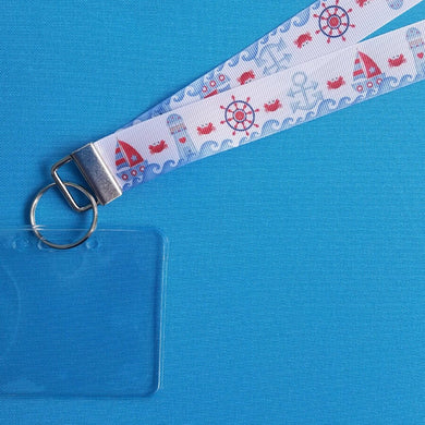 Cruise Lanyard - Vacation Lanyard - Crabby Lighthouses - Norwegian Cruise - Royal Caribbean - Carnival - Non-scratchy - Child or Adult