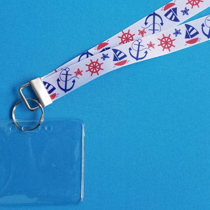 Cruise Lanyard - Vacation Lanyard - Nautical Fun - Norwegian Cruise - Royal Caribbean - Carnival - Non-scratchy - Child or Adult