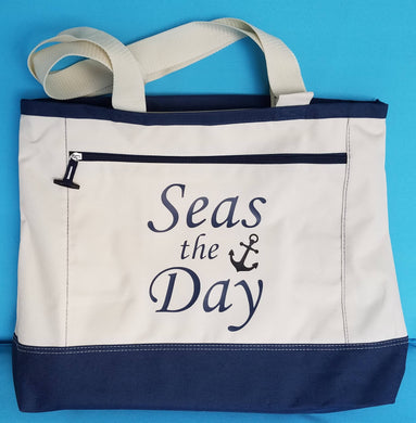 Large Cruise Tote - Tote Bag - Seas the Day - Color/design choice - Disney - DCL - Celebrity - Royal Caribbean - Norwegian - Carnival - MSC