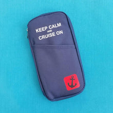 Keep Calm and Cruise On - Passport Holder - Document Organizer - Cruise Gift - Celebrity - Carnival - Royal Caribbean - Norwegian - Princess