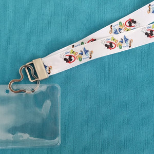 Disney Cruise Lanyard - Disney World Lanyard - KTTW Card Holder - Disney World - Disney in Character Letters - Non-scratchy - Child or Adult