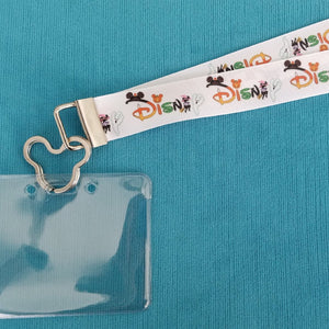 Disney Cruise Lanyard - Disney World Lanyard - KTTW Card Holder - Halloween Disney - Non-scratchy - Child or Adult