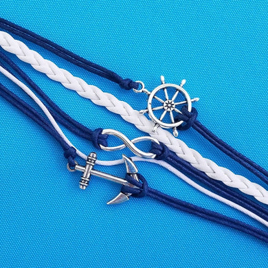 Multi Strand Anchor Bracelet - Cruise Bracelet - Nautical Bracelet - Disney Cruise Fish Extender Gift - Nautical FE Gift