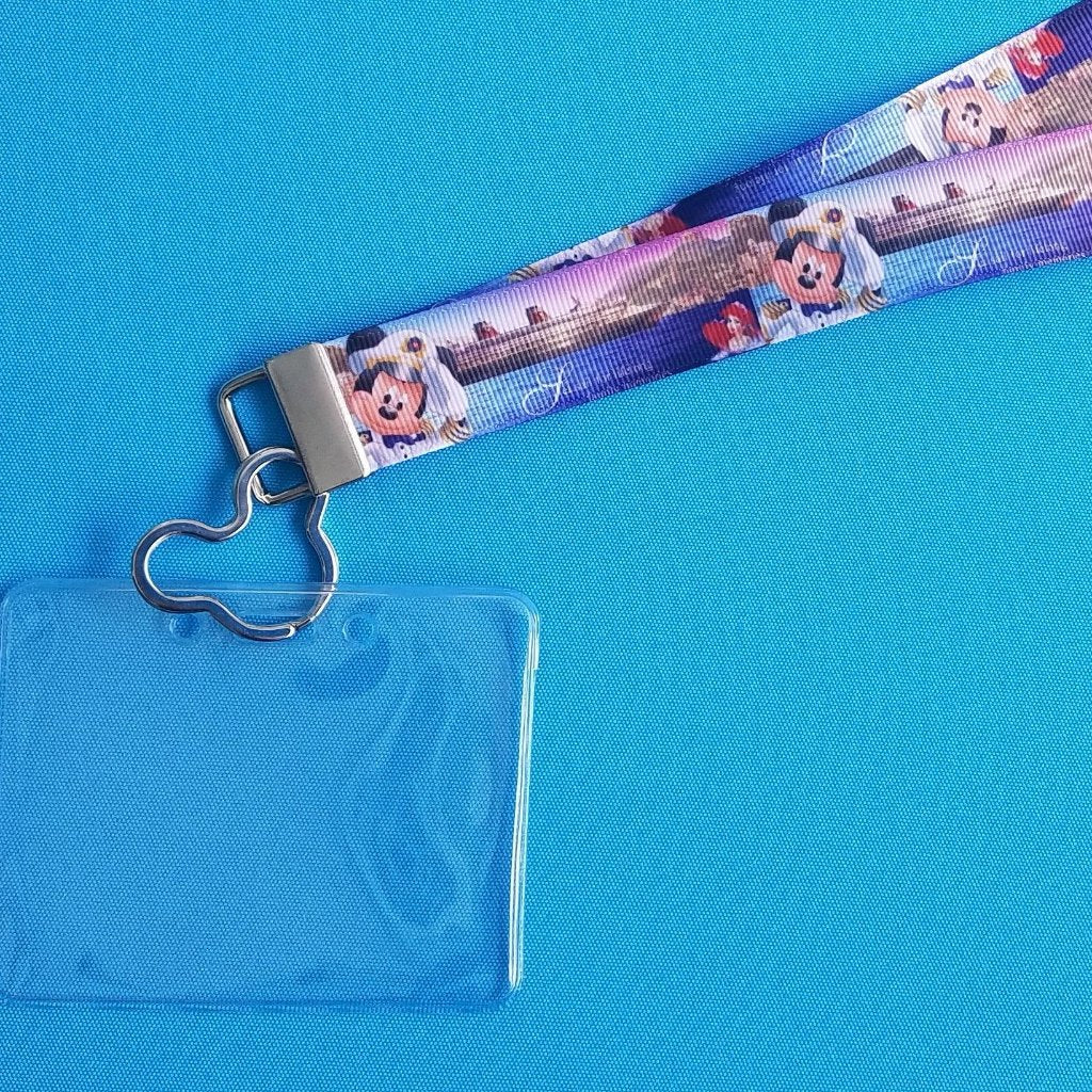 Disney Lanyard  - for KTTW Card - Disney Cruise - DCL - Captain Mickey - Disney Cruise Ship - Non-scratchy - Child or Adult - ID Holder