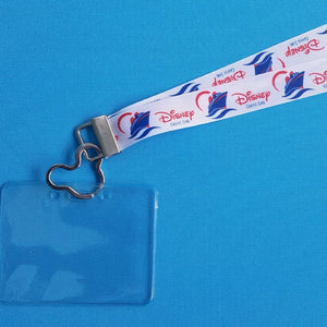 Disney Lanyard  - for KTTW Card - Disney Cruise - DCL - Disney Cruise Line Waves - Non-scratchy - Child or Adult - ID Holder