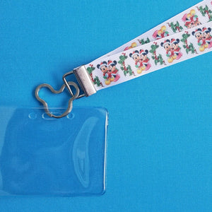 Disney Lanyard  - for KTTW Card - Disney Cruise - Disney World - DCL - Holiday Mickey & Minnie - Non-scratchy - Child or Adult - ID Holder