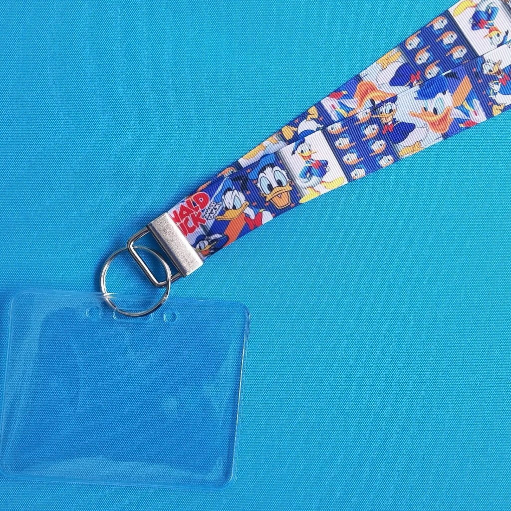 Disney Lanyard  - for KTTW Card - Disney Cruise - DCL - Donald Duck - Non-scratchy - Child or Adult - ID Holder