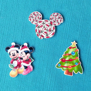 Christmas Mickey & Minnie Magnet Set for Fish Extender Gift Disney Cruise FE Gift