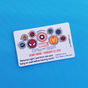 MARVEL Day at Sea DCL Disney Cruise Light Card® card key switch activator for Fish Extender FE Gift