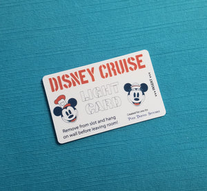 Disney Cruise Light Card® - Stencil Steamboat Willie & Sailor Minnie Faces - magic card key switch activator for Fish Extender FE Gift