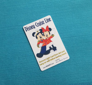 Disney Cruise Line Light Card® - Captain Mickey & Sailor Minnie - magic card key switch activator for Fish Extender FE Gift DCL