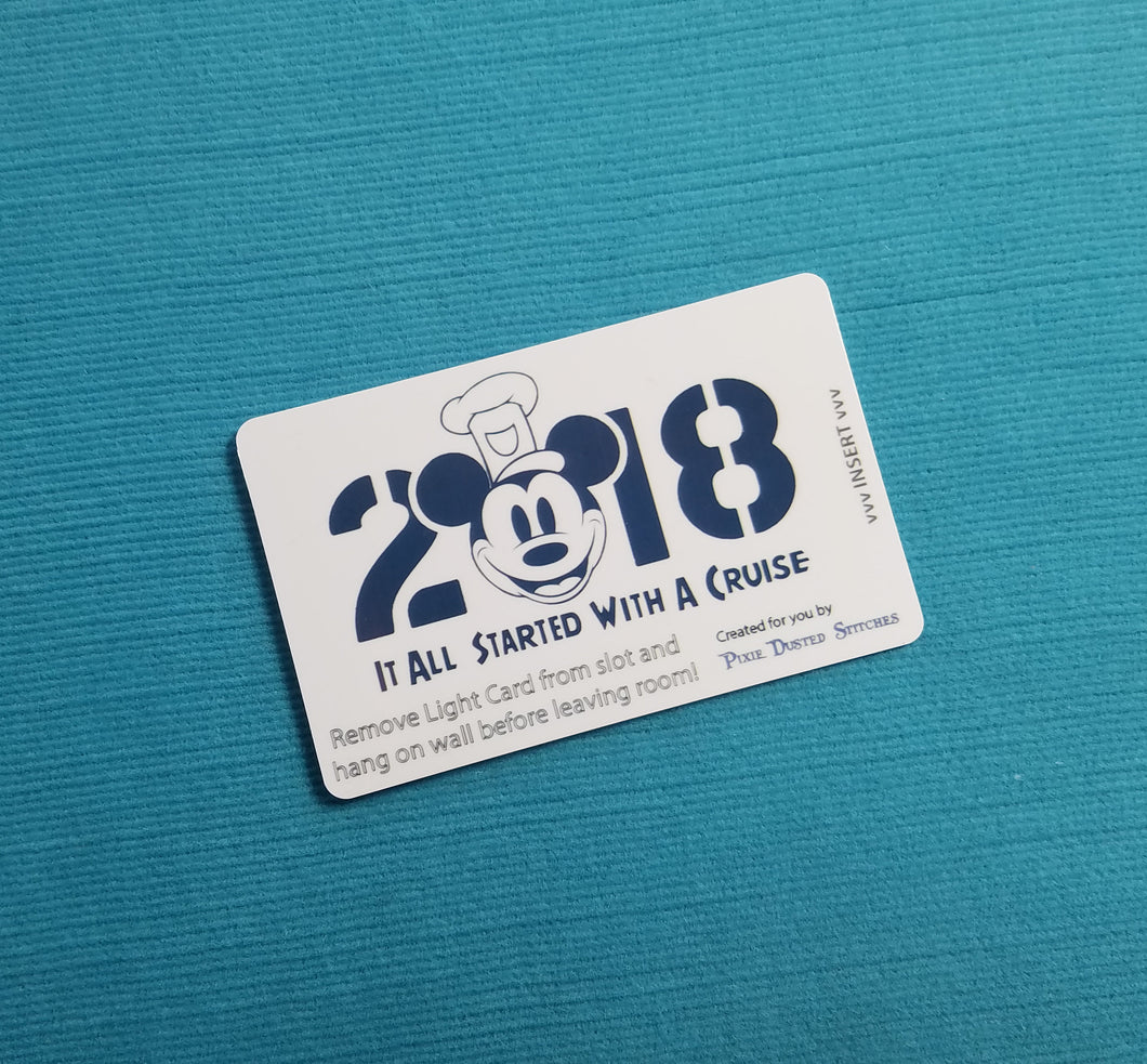 Disney Cruise Light Card® - It All Started With a Cruise - 2018 - magic card key switch activator for Fish Extender FE Gift