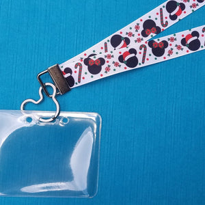 Disney Lanyard  - for KTTW - Mickey & Minnie Christmas - DCL - Disney World - Disneyland - Non-scratchy - Child or Adult