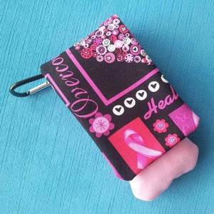 DCL - Disney Cruise - Black and Pink Breast Cancer Awareness Wavekeeper™ - Wave Phone Holder