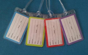 Set of Four Stitch Luggage Tags for Your Disney World - Land - Cruise Trip