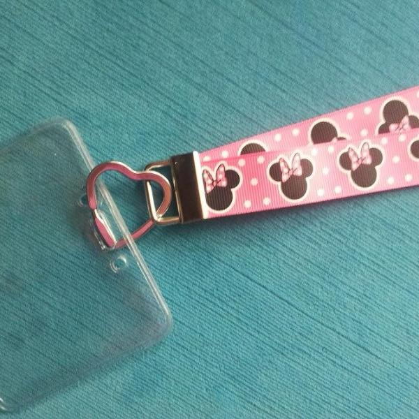 Disney KTTW Card Holder/Lanyard  - Minnie Mouse - Non-scratchy - Child or Adult