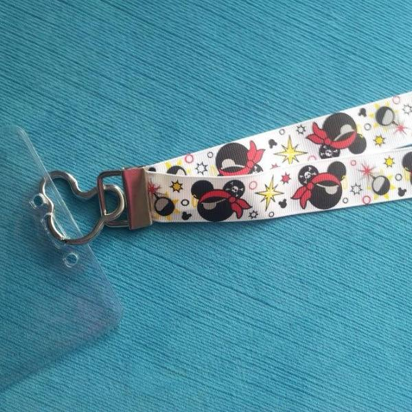 Disney Lanyard  - for KTTW - Disney Cruise -  DCL - Pirate Mickey - Non-scratchy - Child or Adult
