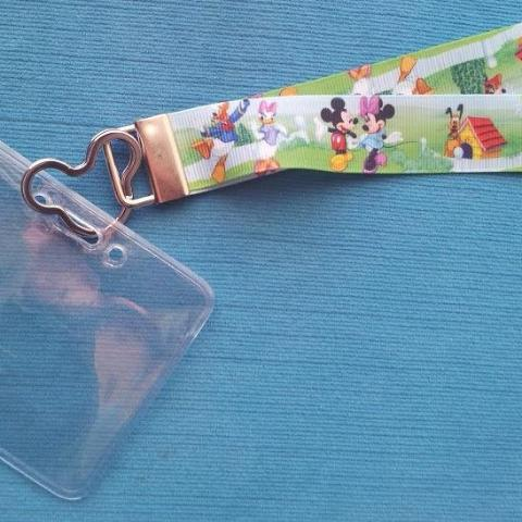 Disney KTTW Card Holder/Lanyard  - Mickey & Gang - Non-scratchy - Child or Adult