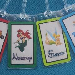 Set of Two Personalized Luggage Tags for Your Disney World - Land - Cruise Trip
