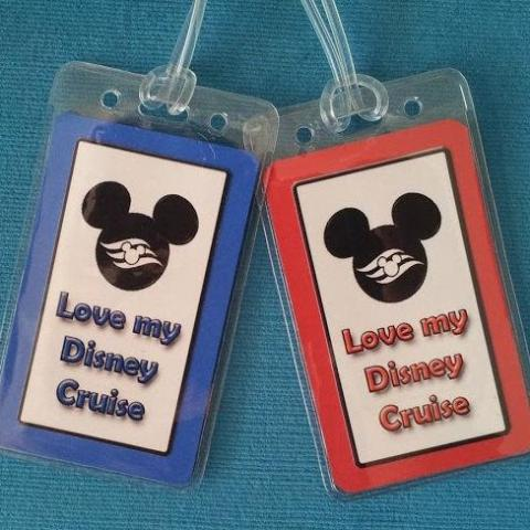 "Set of Two ""Love My Disney Cruise"" Luggage Tags"