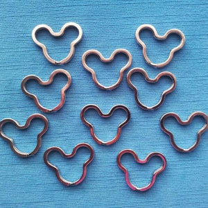 10 Mickey Split Keyrings Key Rings  for Fish Extender FE Gift