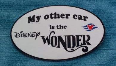 "DCL - Disney Cruise Car Magnet or Sticker - ""My other car is the Disney Wonder"""