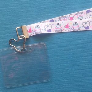 Disney KTTW Card Holder/Lanyard  - Mickey Happy Birthday - Non-scratchy - Child or Adult