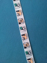 "Peeking Mickey Mouse and Goofy 7/8"" Grosgrain Ribbon"