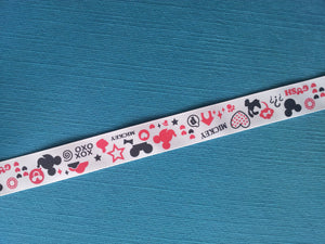 "Mickey Mouse and Pluto Silhouettes 7/8"" Grosgrain Ribbon"