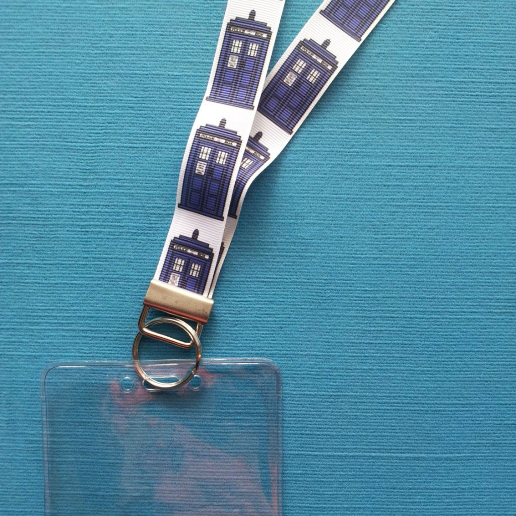 Disney KTTW Card Holder/Lanyard  - Tardis - Doctor Who - Non-scratchy - Child or Adult