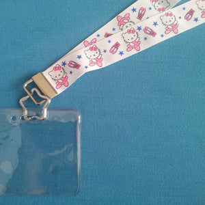 Disney KTTW Card Holder/Lanyard  - Hello Kitty - Non-scratchy - Child size only