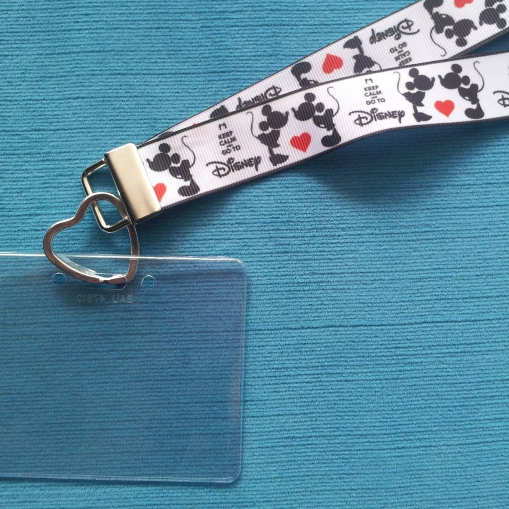 Disney KTTW Card Holder/Lanyard  - Keep Calm and Go To Disney - Non-scratchy - Child or Adult